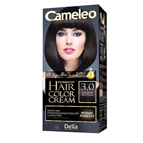 Delia Cosmetics Cameleo Kрем-краска для волос тон 3.0 темно коричневый