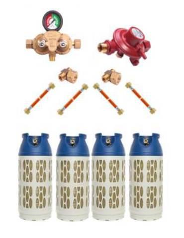 Газобаллонная система GOK (премиум) для подключения 4 композитных баллонов