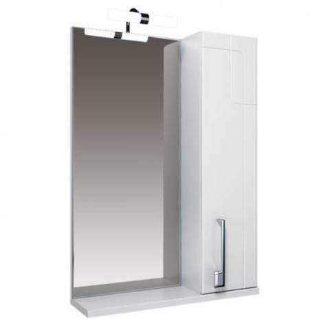 Зеркало Triton Диана-70 белый, шкаф,подсветка