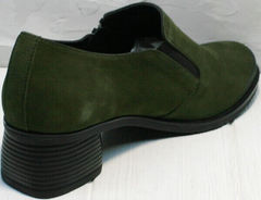 Модные туфли на среднем каблуке на каблуке 5 см осень весна женские Miss Rozella 503-08 Khaki.