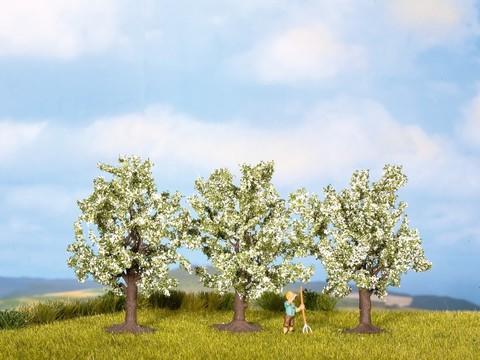 Фруктовые деревья, цветущие - 3шт, (8 см)