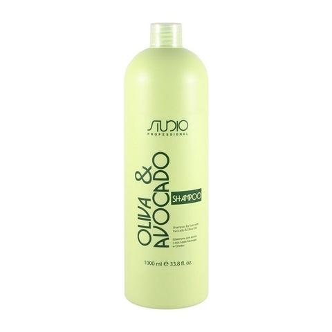 Увлажняющий шампунь для волос с маслами Авокадо и Оливы Kapous, 1000 мл.