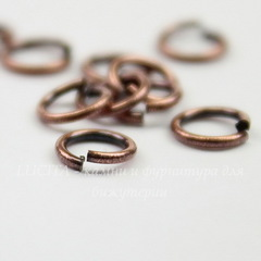 Колечко одинарное TierraCast 5,5х0,8 мм (цвет-античная медь), 10 штук