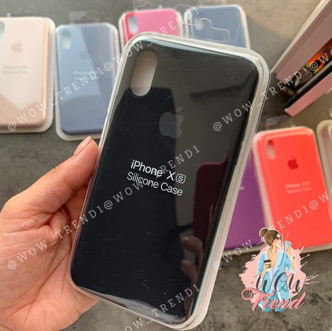 Чехол iPhone XS Max Silicone Case Full /black/ черный