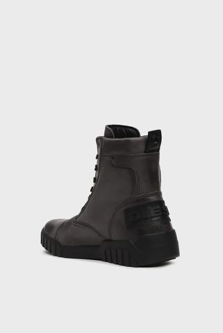 Мужские серые кожаные ботинки LE RUA / H-RUA AM Diesel