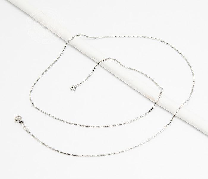 SSNH-0207 Стильная тонкая цепочка «Spikes» из стали (55 см) фото 02