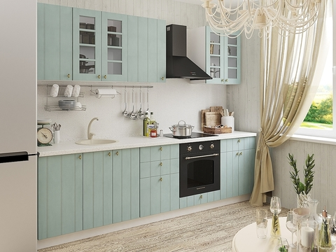 Кухня Прованс-1 белый, голубой