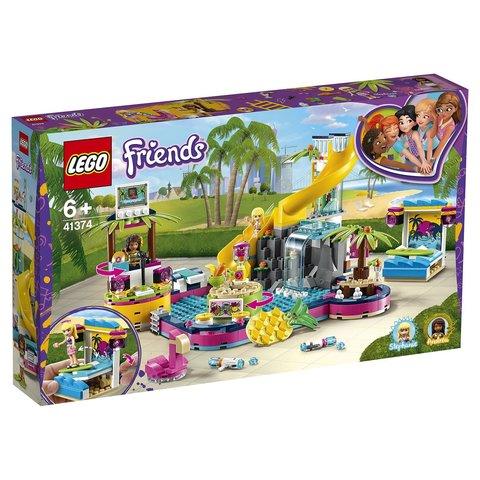 LEGO Friends: Вечеринка Андреа у бассейна 41374 — Andrea's Pool Party — Лего Френдз Друзья Подружки