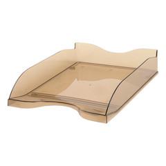 Лоток для бумаг горизонтальный Стамм тонированный коричневый (2 штуки в упаковке)