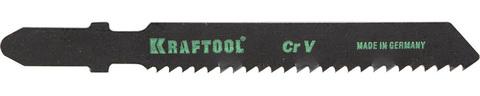 Полотна KRAFTOOL, T119B, для эл/лобзика, Cr-V, по дереву, фанере, чистый рез, EU-хвост., шаг 2мм, 55мм, 2шт