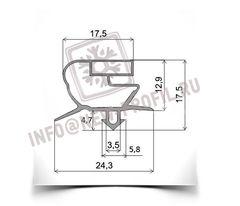 Уплотнитель 67,5*58,5 см для саладетты Follett SC-140 (размер по пазу). Профиль 018.