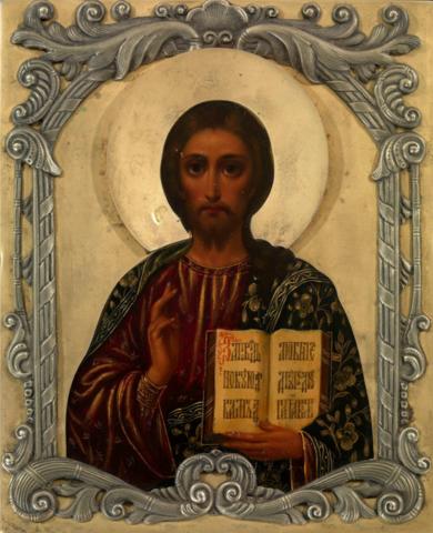 Икона Иисуса Христа Господь Вседержитель на дереве на левкасе мастерская Иконный Дом