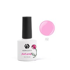 Гель-лак ADRICOCO Flash Spring №02 Розовая магн...
