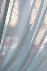 Льняная вуаль - широкая, цвет бирюза