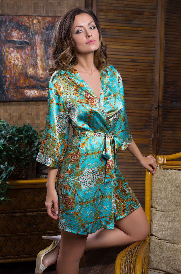 Шелковые халаты Халат женский натуральный шелк MIA-MIA   Adriana АДРИАНА 15103 15103_big.jpg