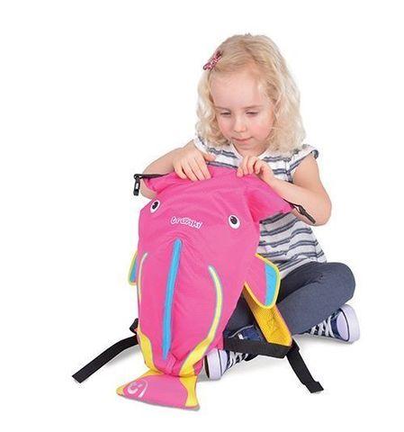 Рюкзак для бассейна и пляжа Коралловая рыбка, розовый