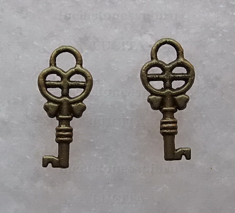 "Подвеска  ""Ключик"" (цвет - античная бронза) 18х8 мм ()"