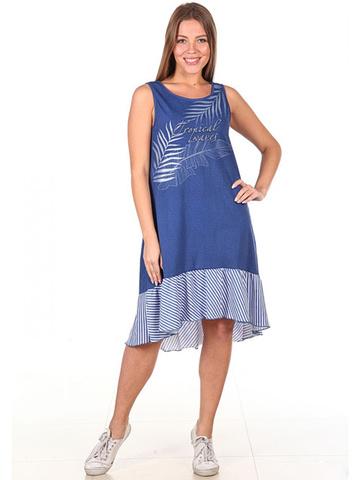 371 Сарафан женский, синий