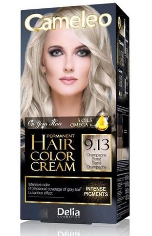 Delia Cosmetics Cameleo Крем-краска для волос тон 9.13 Шампань блондин