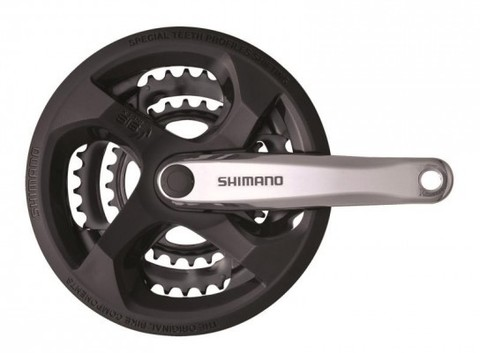 Система шатунов SHIMANO M131, 42/34/24, 170 мм.