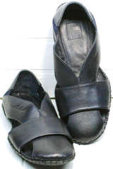Лучшие мужские сандалии с закрытым носом и пяткой Luciano Bellini 76389 Blue.