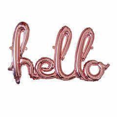 Надпись Hello розовое золото