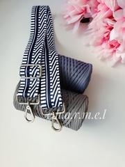 Тёмно- синий зигзаг Ремень для сумки