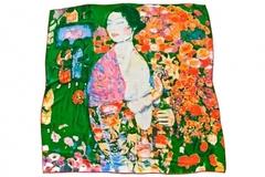Итальянский шелковый платок с картиной Густава Климта