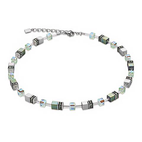 Колье Coeur de Lion 4015/10-0500 цвет зелёный, серый, прозрачный