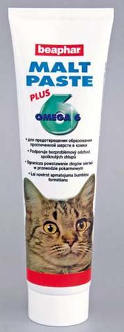 12563 Беафар Мальт-паста д/кошек для очистки кишечника 100гр*6*72