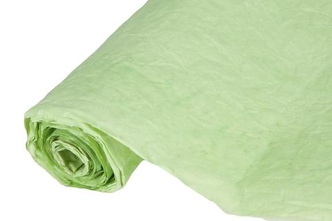 Бумага жатая эколюкс 70см х 5м светло-зеленая 02