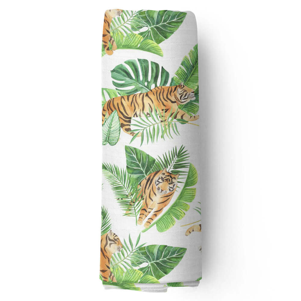Пеленка муслиновая Adam Stork Watercolor Tigers