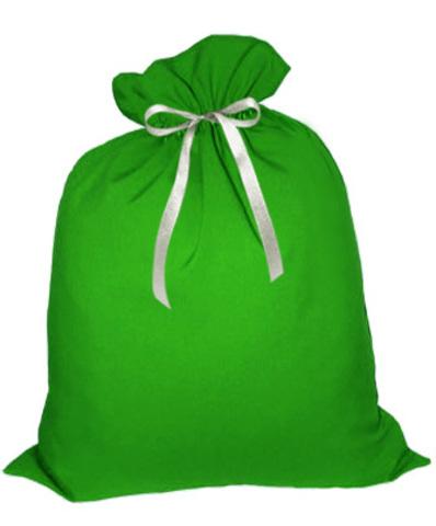 Мешок Деда Мороза зелёный