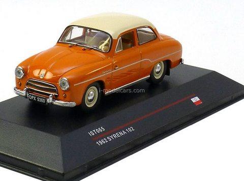 Syrena 102 1962 orange IST 065 Models 1:43