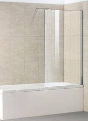 Стеклянная шторка на ванну Welt-Wasser WW 100G1 90