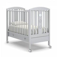Кровать детская Дени люкс с ящиком белая ночь