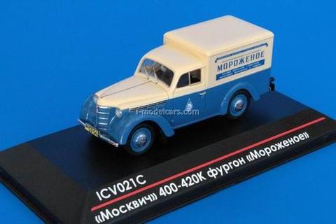 Moskvich-400-420K Van Ice Cream 1:43 ICV021S