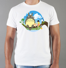 Футболка с принтом Мой сосед Тоторо (Totoro) белая 0014
