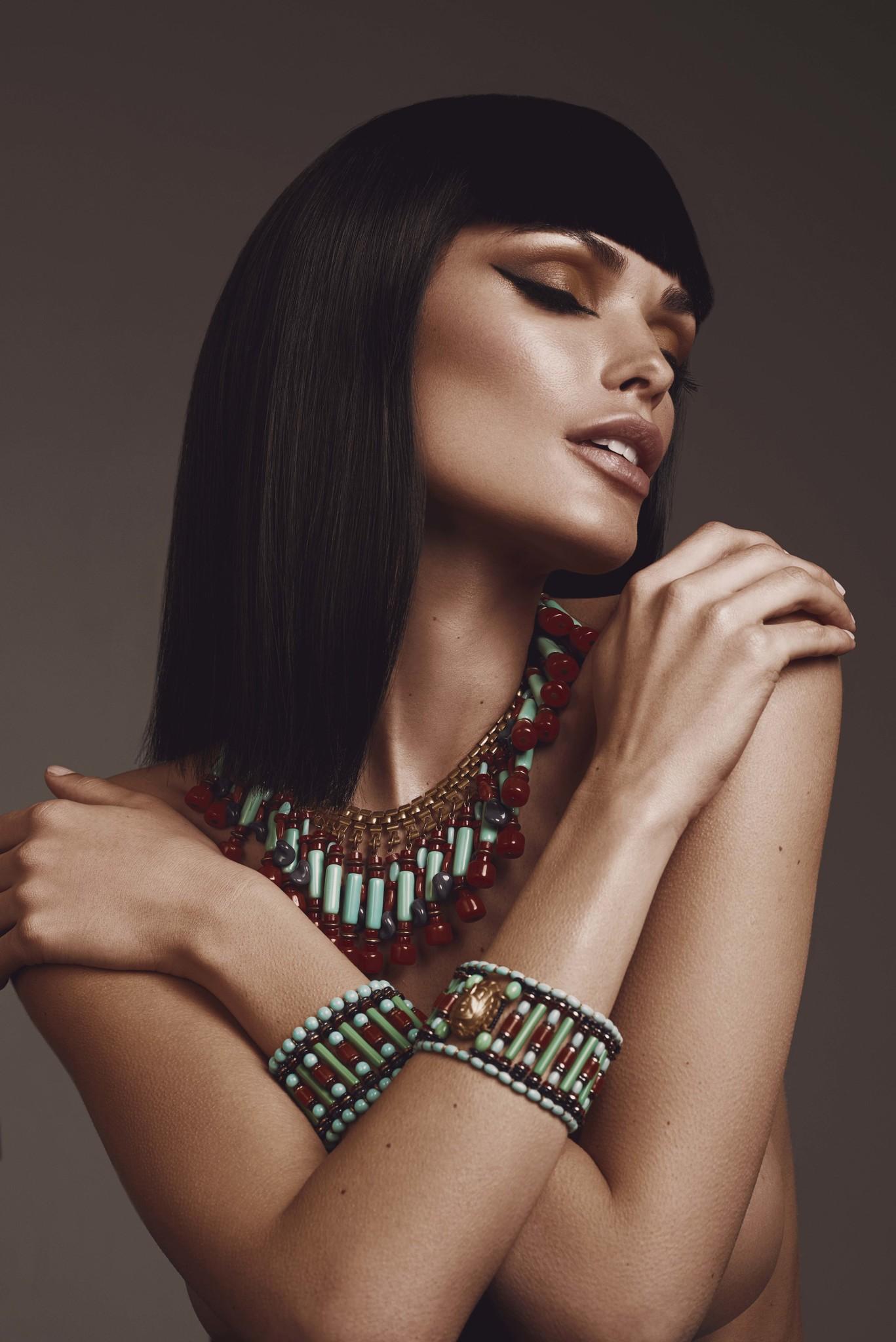 Ожерелье Miriam Haskell в египетском стиле 1970-е