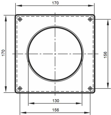 Накладка торцевая 125 мм