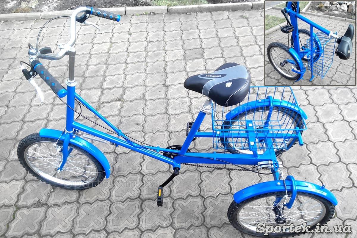 Трехколесный велосипед 'Городской с корзинкой 20' для вертикального хранения
