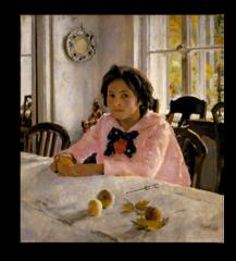 """Репродукция """"Серов - Девочка с персиками. 1887"""""""