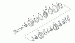 Запчасти кпп ZF 16S221 (винтовые зубья), запчасти для коробки передач Man ZF 16S151- 16S121- 16S221 ZF - 1315304004 - Шестерня ZF 1-й передачи 47 зуб.  12 - 81323020056 Наклонное колесо