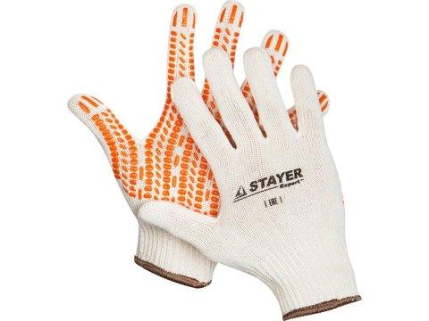 STAYER TRACK, размер L-XL, перчатки трикотажные, с ПВХ покрытием, 11401-XL