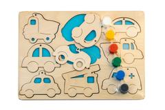 Рамки-вкладыши с красками Машинки, Smile-Decor