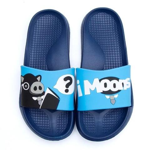 Тапочки свинки голубые