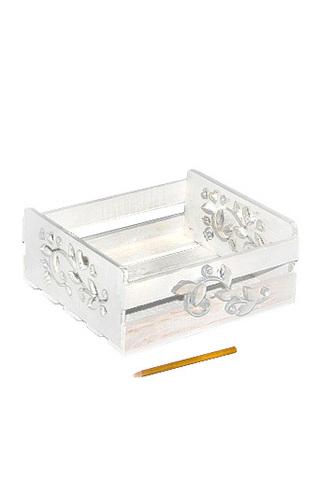 Коробка деревянная 125 прямоуг. с резными ручками