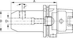 Патрон Whistle-Notch HSK-A 63