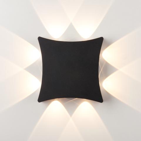 Уличный настенный светодиодный светильник Чёрный 1631 TECHNO LED