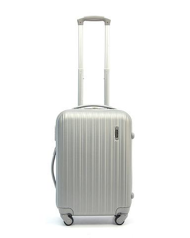 Чемодан Ananda пластиковый APL-833 Серебро ручная кладь (S)